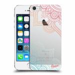 Picasee Apple iPhone 5/5S/SE Hülle - Transparentes Silikon - Flowers pattern
