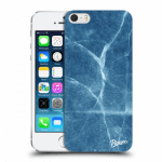 Picasee Apple iPhone 5/5S/SE Hülle - Transparentes Silikon - Blue marble