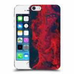Picasee Apple iPhone 5/5S/SE Hülle - Transparenter Kunststoff - Organic red