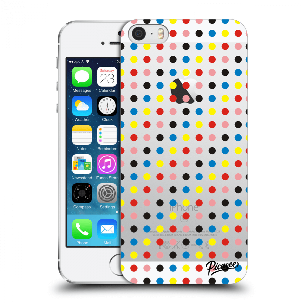 Picasee Apple iPhone 5/5S/SE Hülle - Transparenter Kunststoff - Colorful dots