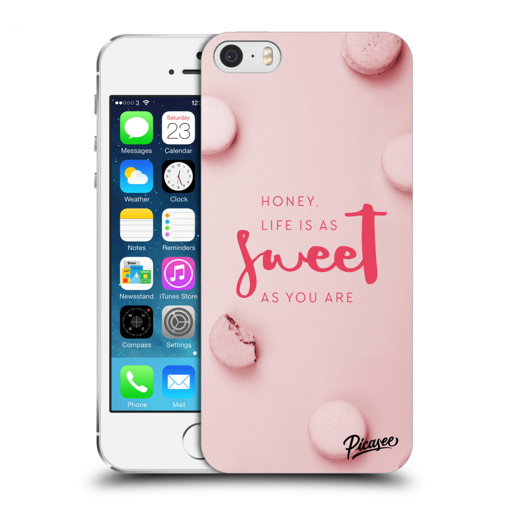 Picasee Apple iPhone 5/5S/SE Hülle - Transparentes Silikon - Life is as sweet as you are