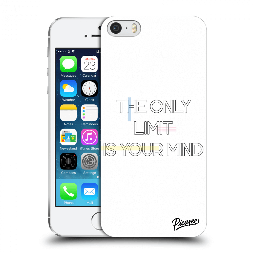 Picasee Apple iPhone 5/5S/SE Hülle - Transparenter Kunststoff - The only limit is your mind