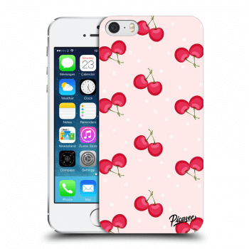 Picasee Apple iPhone 5/5S/SE Hülle - Transparenter Kunststoff - Cherries