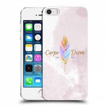 Picasee Apple iPhone 5/5S/SE Hülle - Transparenter Kunststoff - Carpe Diem