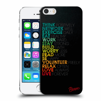 Picasee Apple iPhone 5/5S/SE Hülle - Transparentes Silikon - Motto life