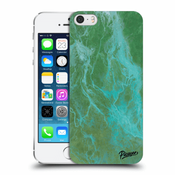 Picasee Apple iPhone 5/5S/SE Hülle - Transparenter Kunststoff - Green marble