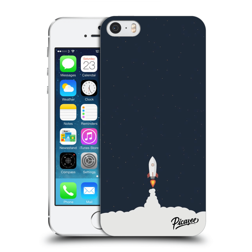 Picasee Apple iPhone 5/5S/SE Hülle - Transparentes Silikon - Astronaut 2