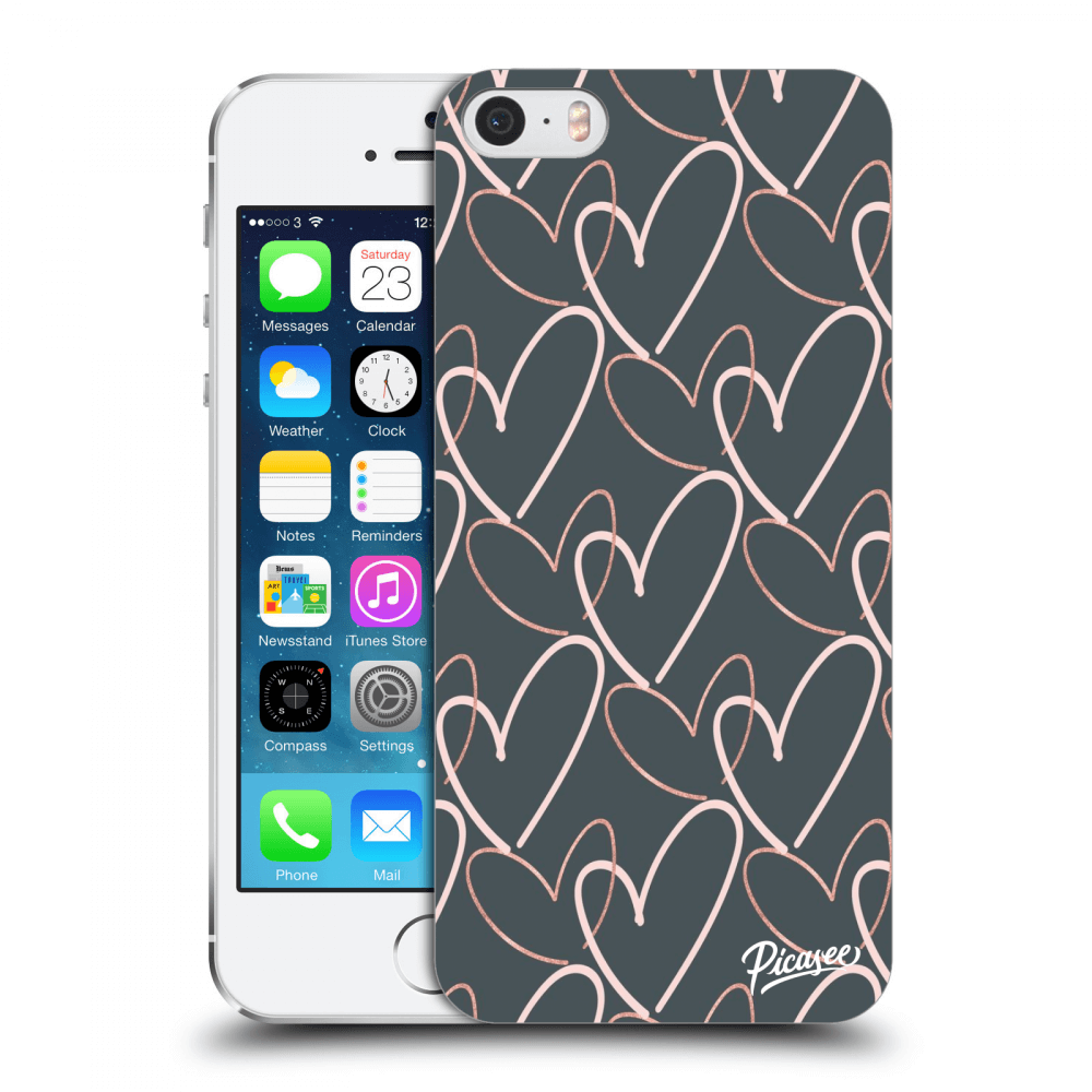 Picasee Apple iPhone 5/5S/SE Hülle - Transparentes Silikon - Lots of love
