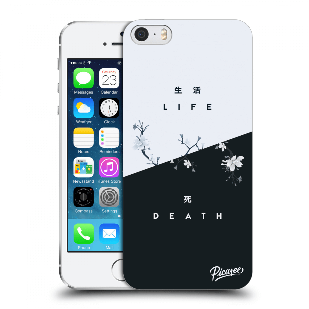 Picasee Apple iPhone 5/5S/SE Hülle - Transparentes Silikon - Life - Death