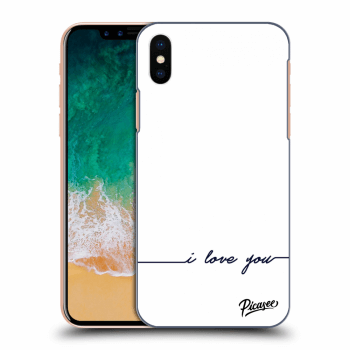 Hülle für Apple iPhone X/XS - I love you