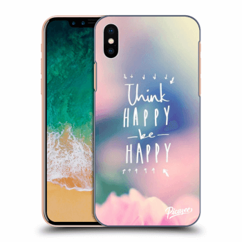Hülle für Apple iPhone X/XS - Think happy be happy