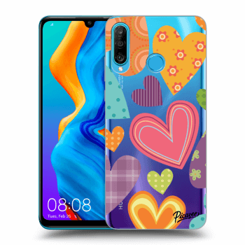 Hülle für Huawei P30 Lite - Colored heart