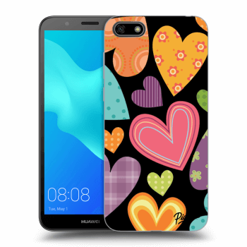 Hülle für Huawei Y5 2018 - Colored heart