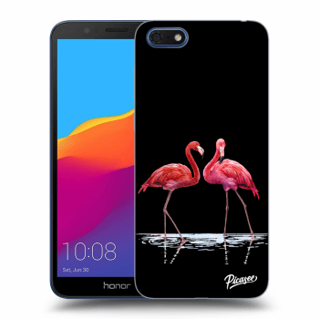 Hülle für Honor 7S - Flamingos couple