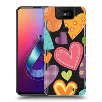 Hülle für Asus Zenfone 6 ZS630KL - Colored heart