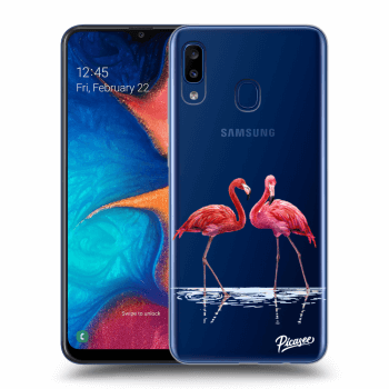 Hülle für Samsung Galaxy A20e A202F - Flamingos couple