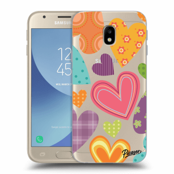 Hülle für Samsung Galaxy J3 2017 J330F - Colored heart