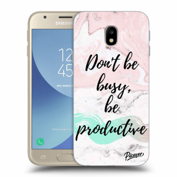 Hülle für Samsung Galaxy J3 2017 J330F - Don't be busy, be productive