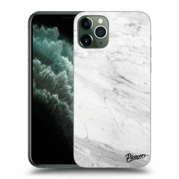 Hülle für Apple iPhone 11 Pro - White marble