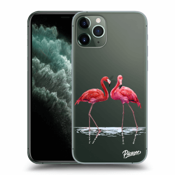 Hülle für Apple iPhone 11 Pro Max - Flamingos couple