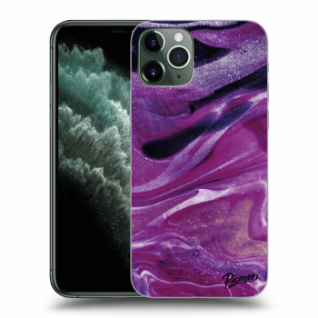 Hülle für Apple iPhone 11 Pro Max - Purple glitter