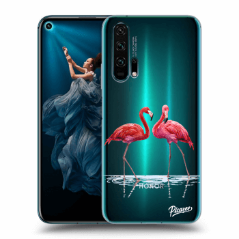Hülle für Honor 20 Pro - Flamingos couple