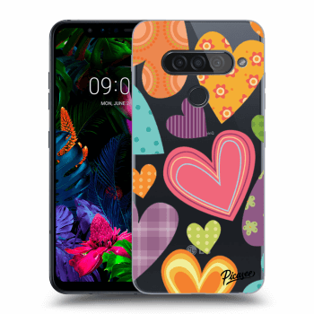 Hülle für LG G8s ThinQ - Colored heart