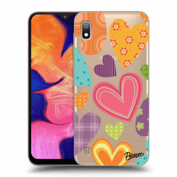Hülle für Samsung Galaxy A10 A105F - Colored heart
