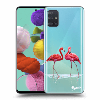 Hülle für Samsung Galaxy A51 A515F - Flamingos couple