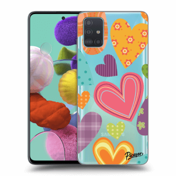Hülle für Samsung Galaxy A51 A515F - Colored heart