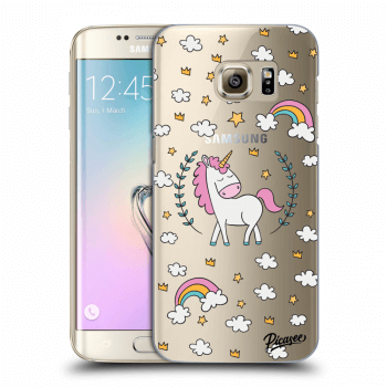 Hülle für Samsung Galaxy S7 Edge G935F - Unicorn star heaven
