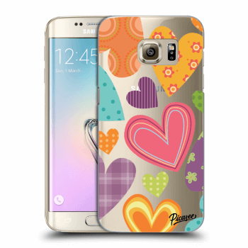 Hülle für Samsung Galaxy S7 Edge G935F - Colored heart