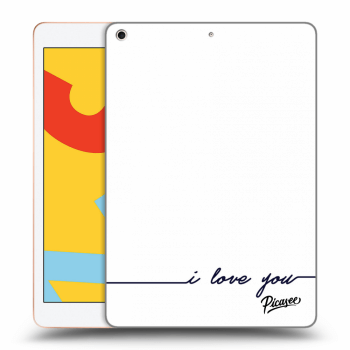Hülle für Apple iPad 2019 (7. gen) - I love you