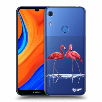 Hülle für Huawei Y6S - Flamingos couple