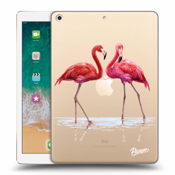 Hülle für Apple iPad 2017 (5. gen) - Flamingos couple