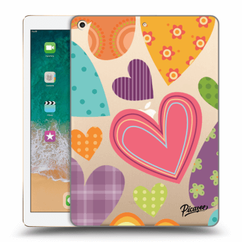 Hülle für Apple iPad 2017 (5. gen) - Colored heart