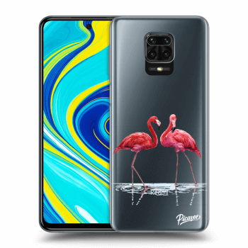 Hülle für Xiaomi Redmi Note 9 Pro - Flamingos couple