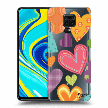 Hülle für Xiaomi Redmi Note 9 Pro - Colored heart