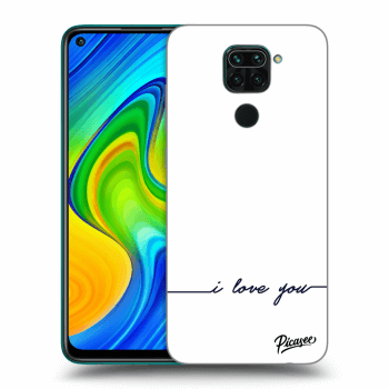 Hülle für Xiaomi Redmi Note 9 - I love you