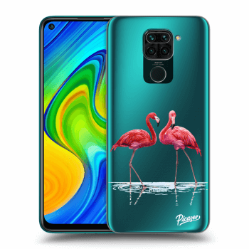 Hülle für Xiaomi Redmi Note 9 - Flamingos couple