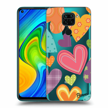 Hülle für Xiaomi Redmi Note 9 - Colored heart