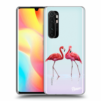 Hülle für Xiaomi Mi Note 10 Lite - Flamingos couple