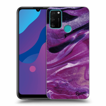 Hülle für Honor 9A - Purple glitter