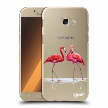 Hülle für Samsung Galaxy A5 2017 A520F - Flamingos couple