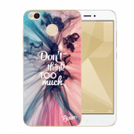 Picasee Xiaomi Redmi 4X Global Hülle - Transparenter Kunststoff - Don't think TOO much