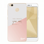 Picasee Xiaomi Redmi 4X Global Hülle - Transparentes Silikon - You create your own opportunities