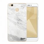 Picasee Xiaomi Redmi 4X Global Hülle - Transparenter Kunststoff - White marble