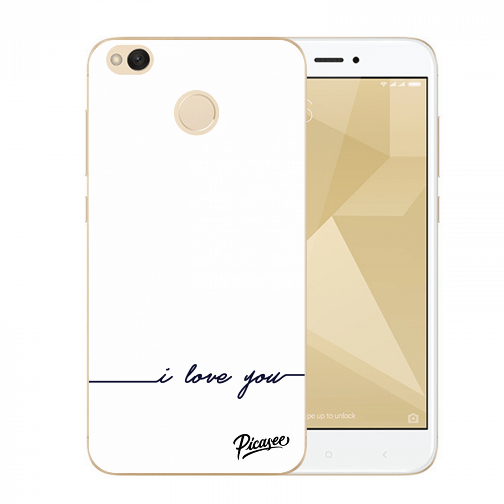 Picasee Xiaomi Redmi 4X Global Hülle - Transparentes Silikon - I love you