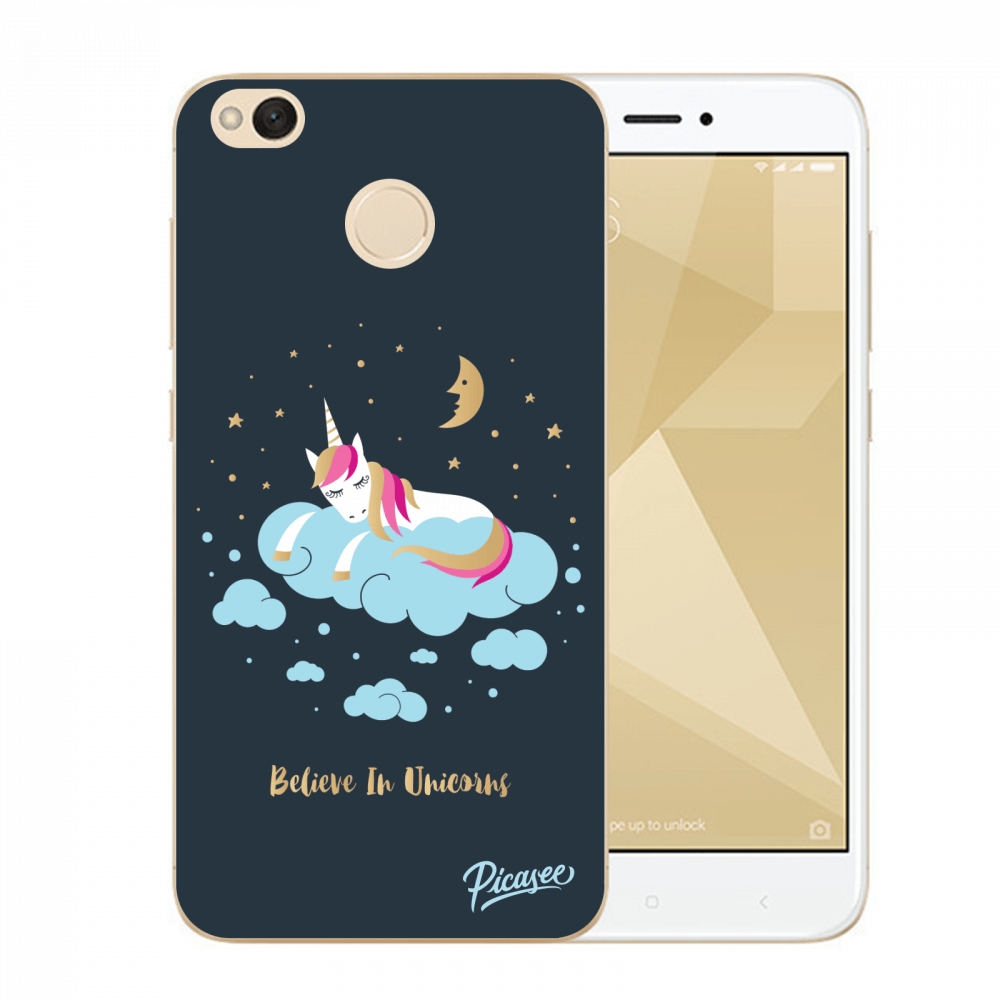 Picasee Xiaomi Redmi 4X Global Hülle - Transparenter Kunststoff - Believe In Unicorns