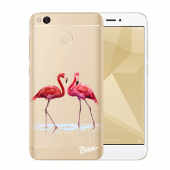 Hülle für Xiaomi Redmi 4X Global - Flamingos couple